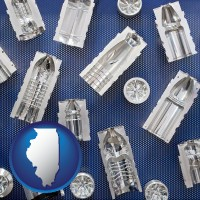 illinois several plastic molds, made from machined metal